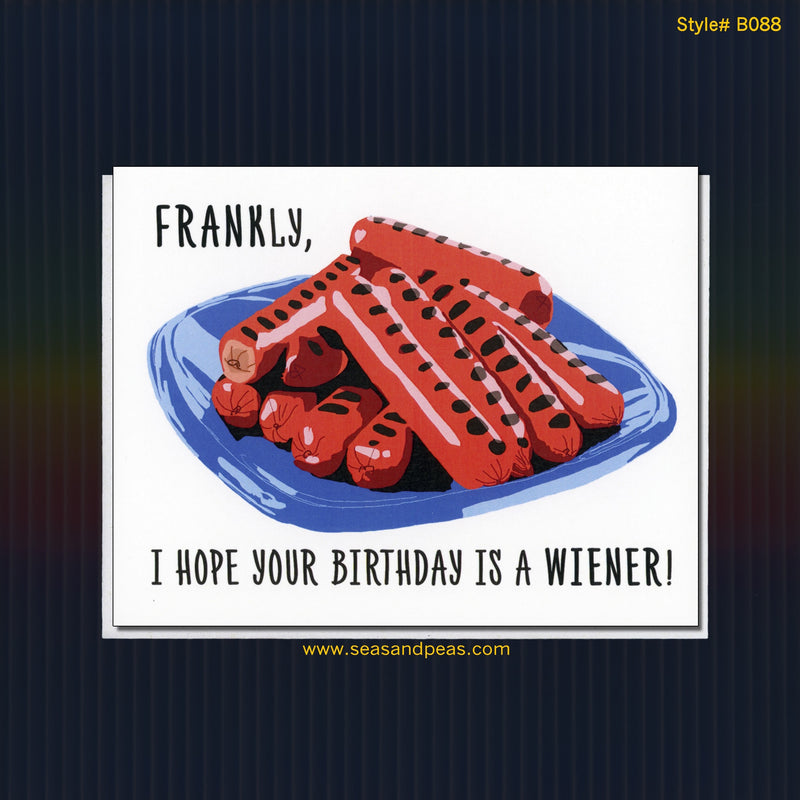 Birthday Wiener Birthday Card