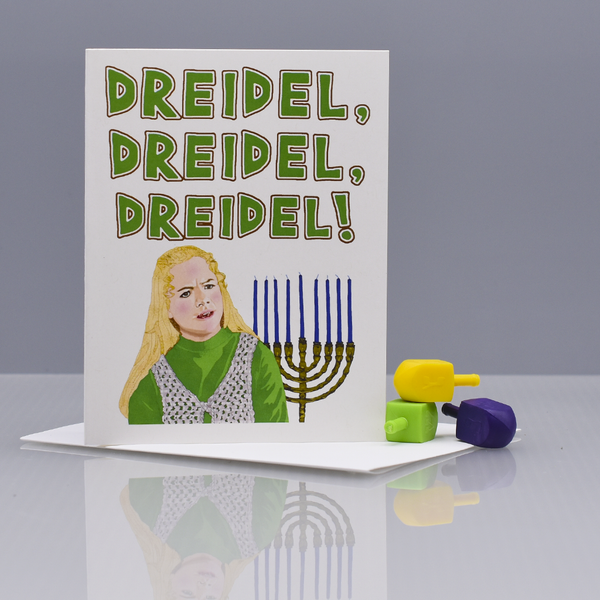 "Jan Brady ""The Brady Bunch"" Hanukkah Card"