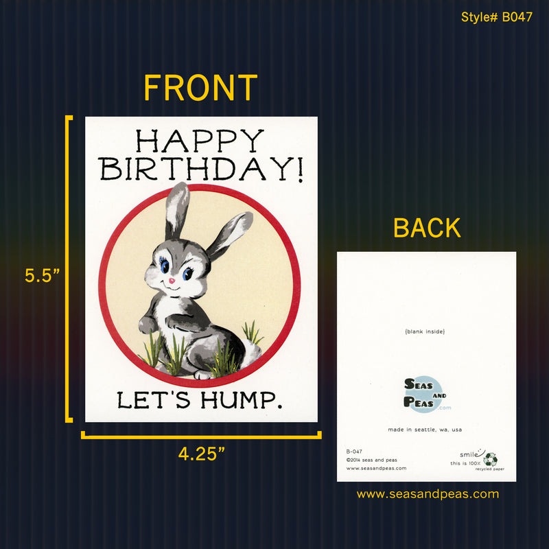 Let's Hump Birthday Card - Seas and Peas