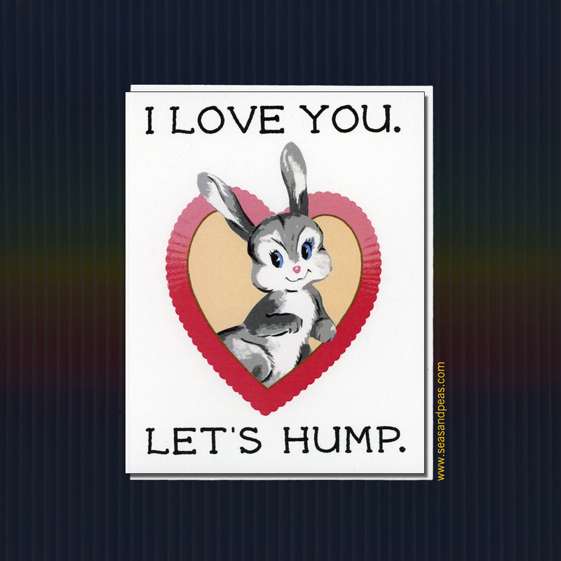 Let's Hump Love Card - Mature - Seas and Peas