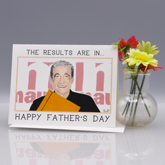 "The Results Are In ""Maury"" Father's Day Card"