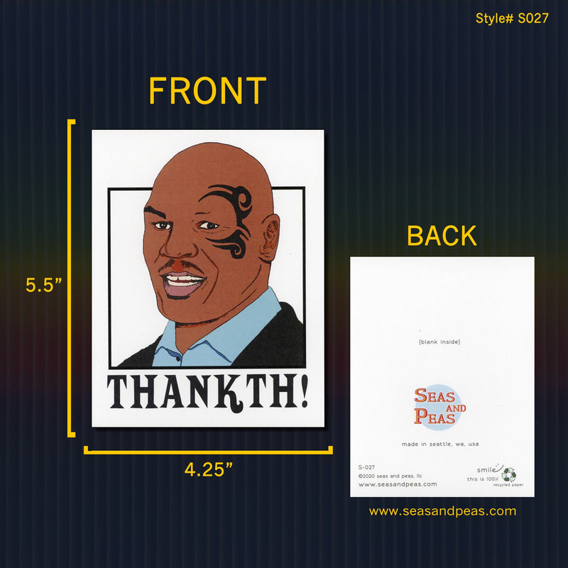 Mike Tyson Thank You Card - Seas and Peas