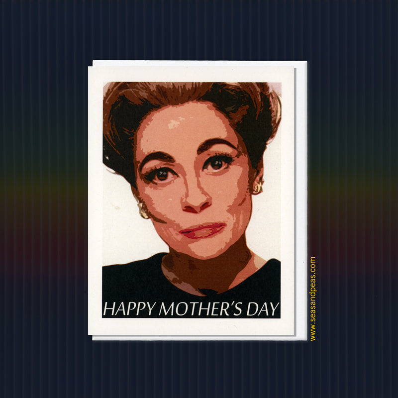 """Mommie Dearest"" Death Stare Mother's Day Card - Seas and Peas"