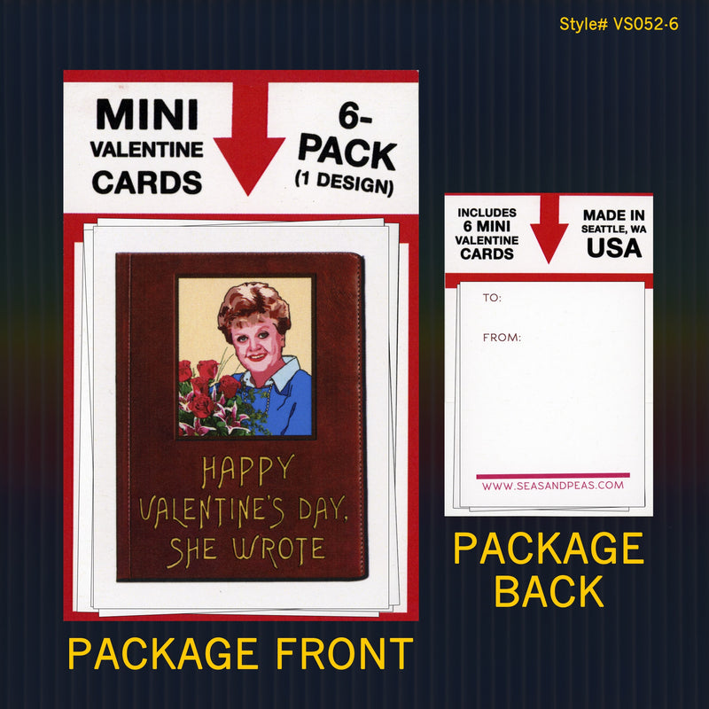 """Murder She Wrote"" Mini Flat Valentine Notecard Set"