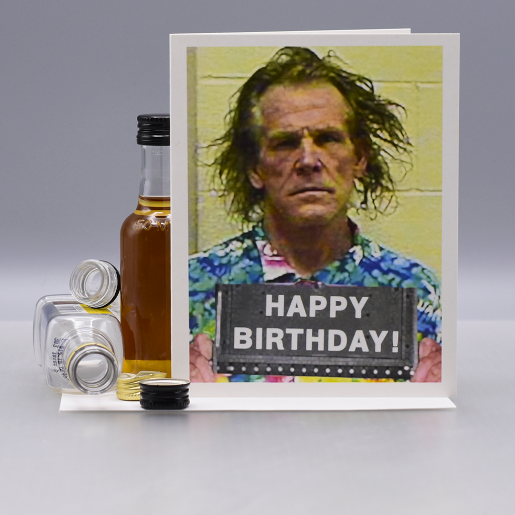 Nick Nolte Mugshot Birthday Card