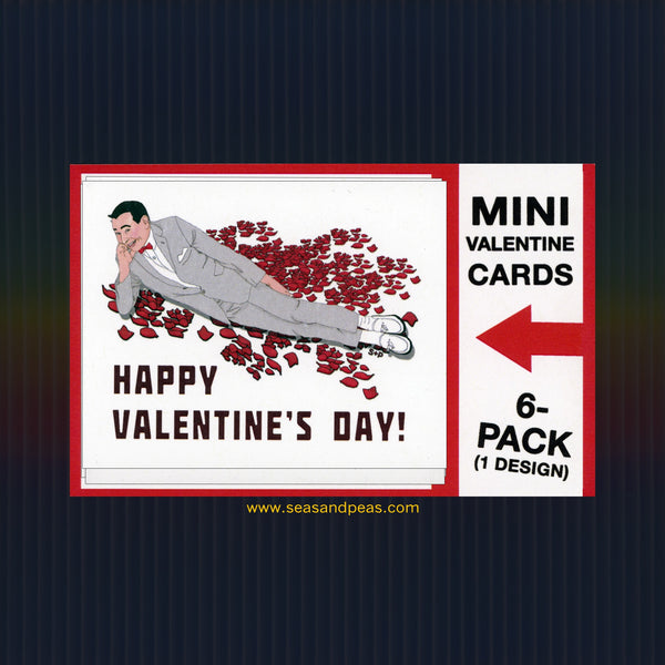 """Peewee Herman"" Mini Flat Valentine Notecard Set"