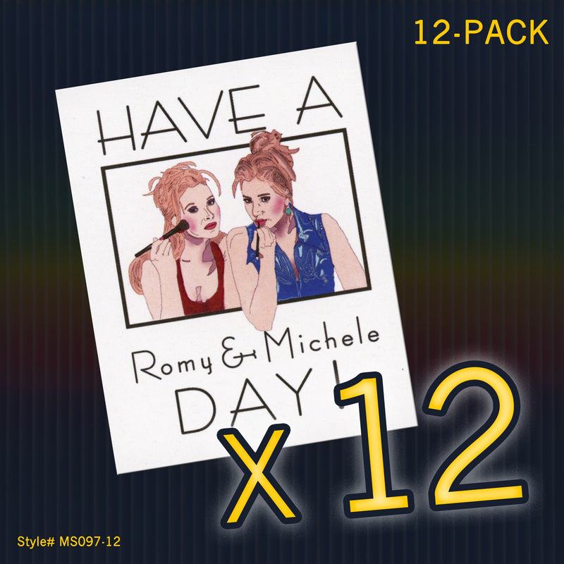 """Romy & Michele's High School Reunion"" Mini Flat Notecards - Seas and Peas"