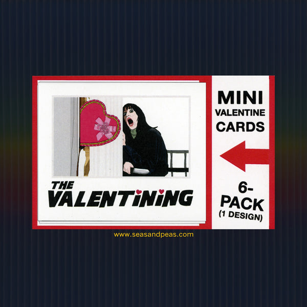 "The Valentining ""The Shining"" Mini Flat Valentine Notecard Set"
