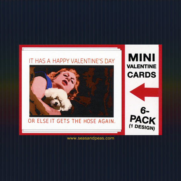 """The Silence of the Lambs"" Mini Flat Valentine Notecard Set"