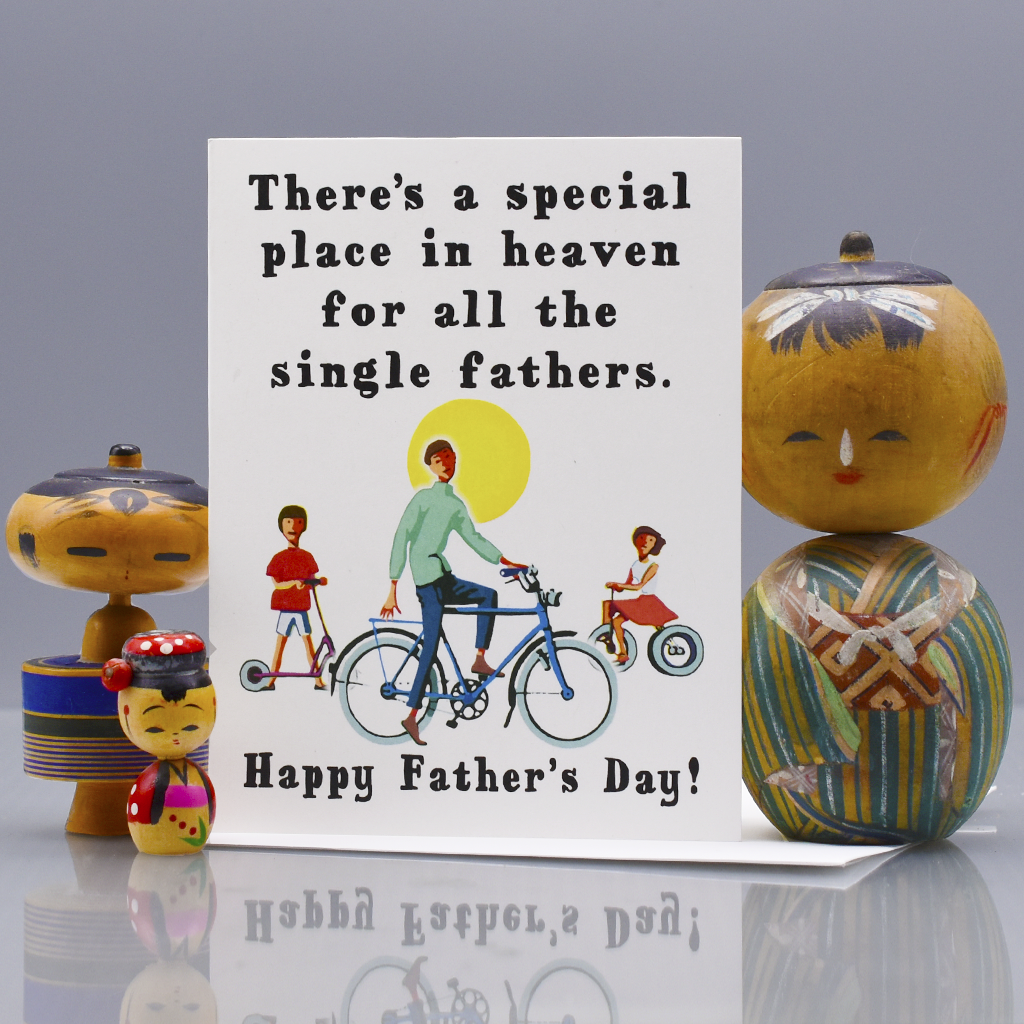 Special Place in Heaven Father's Day Card for Single Dad