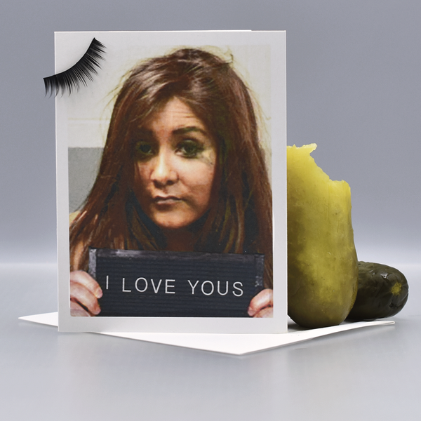 Snooki Mugshot Valentine Love Card