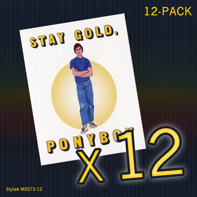 """Stay Gold Ponyboy"" Mini Flat Notecards - Seas and Peas"