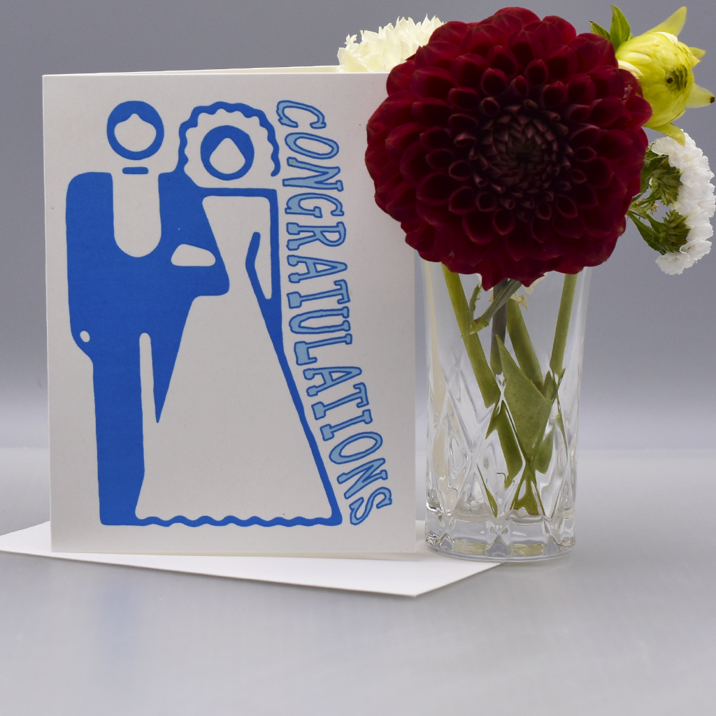 A Simple Straight Wedding Congratulations Card