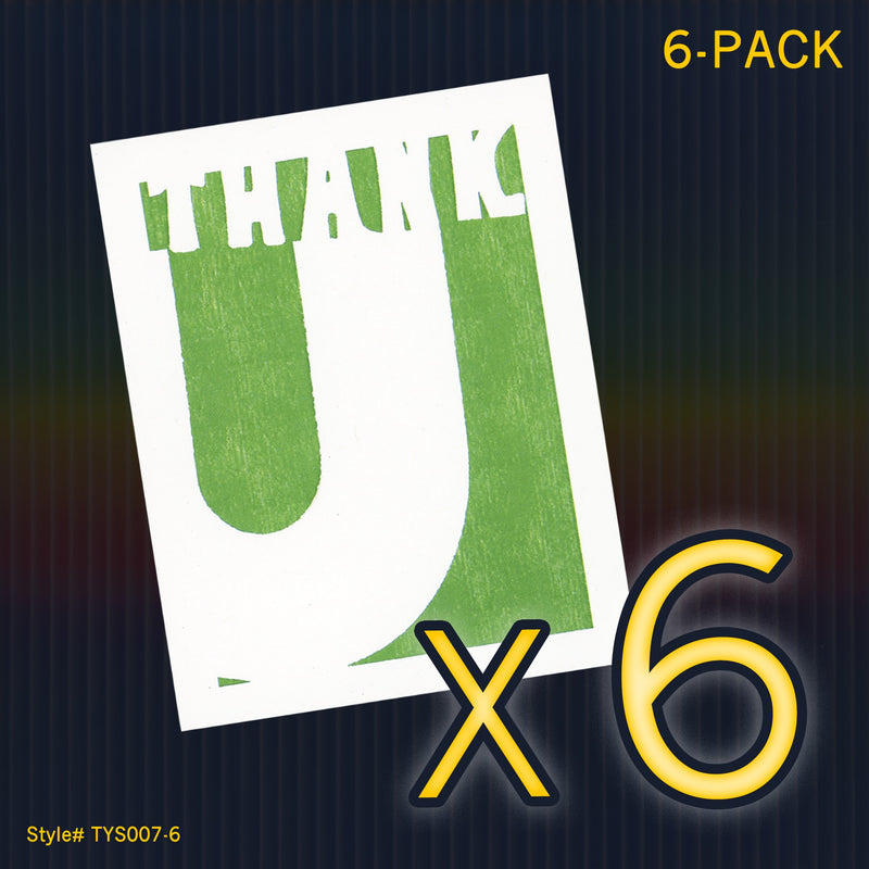 """Thank U"" Mini Flat Thank You Notes - Seas and Peas"