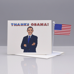 Thanks Obama Thank You Card