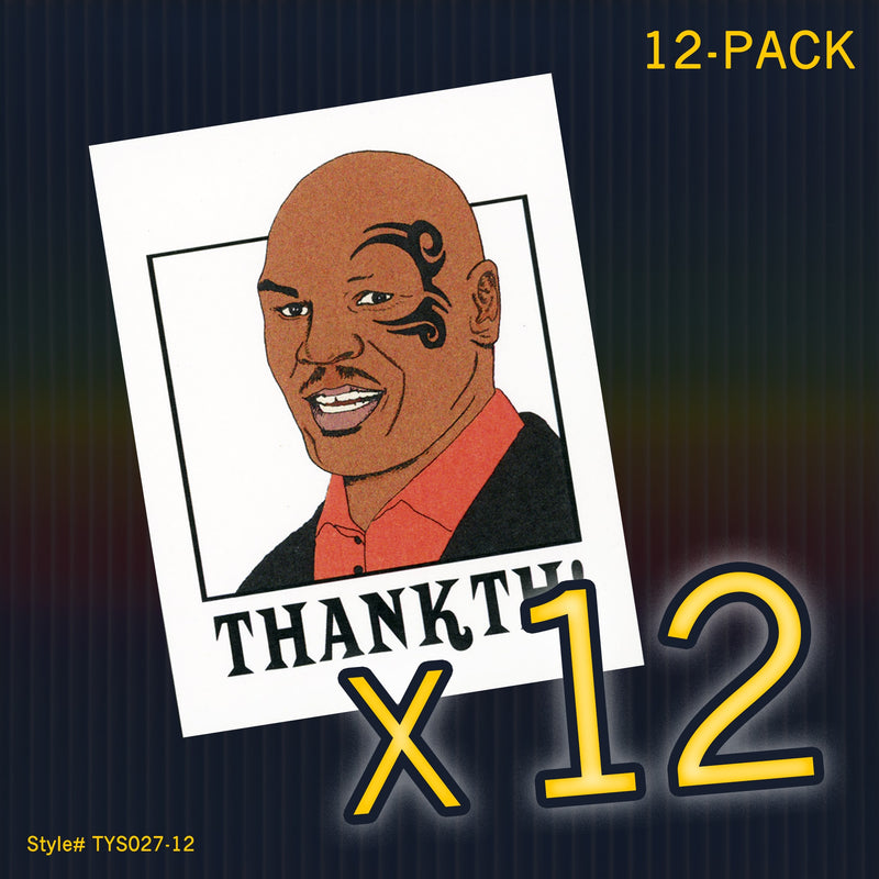 """Mike Tyson"" Mini Flat Thank You Notes - Seas and Peas"