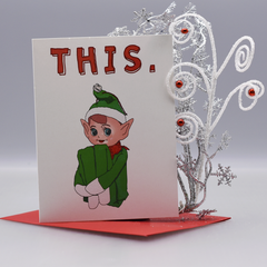 This Elf Christmas Card