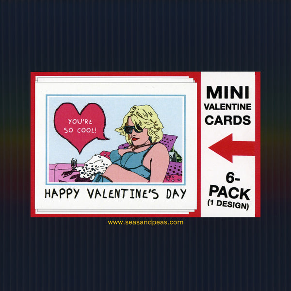 """True Romance"" Mini Flat Valentine Notecard Set"