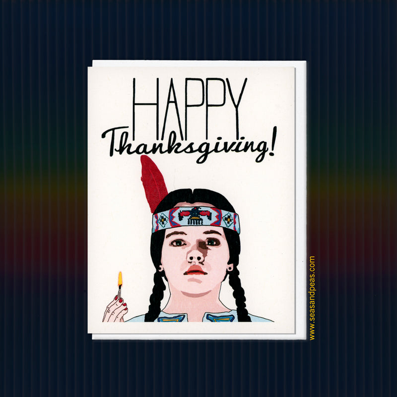 Wednesday Addams Thanksgiving Card - Seas and Peas