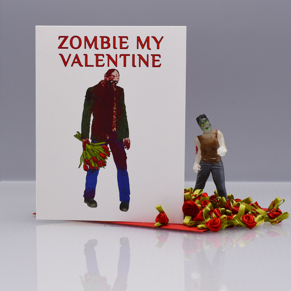Zom-Be My Valentine Valentine's Day Card