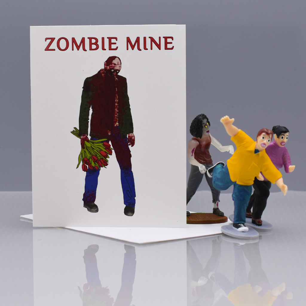 Zom-Be Mine Love Card