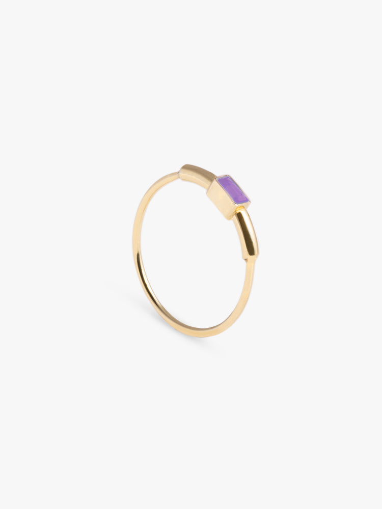 Ring Sprint Amethyst 14kt Solid Gold