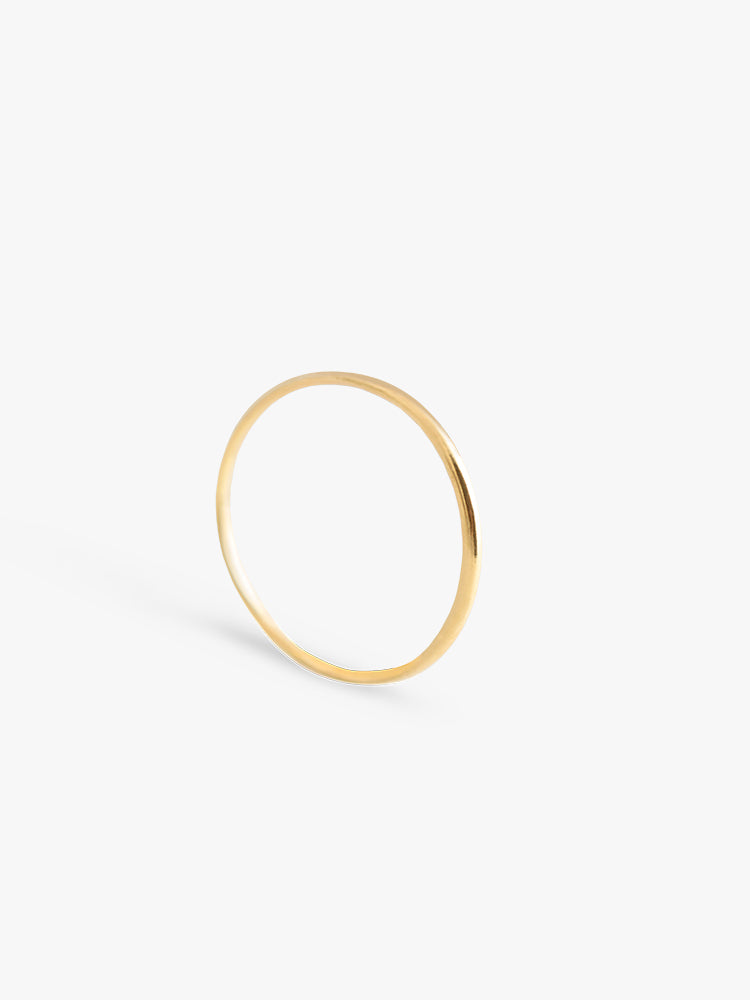Ring Facet Round XS 14kt Solid Gold