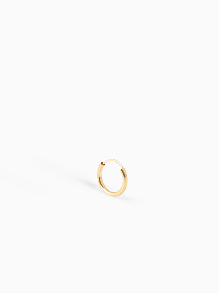 Earring Facet 13 mm 14kt Solid Gold
