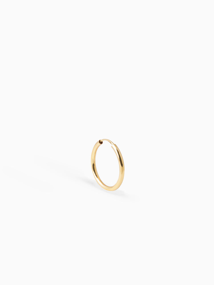 Earring Facet 20 mm 14kt Solid Gold