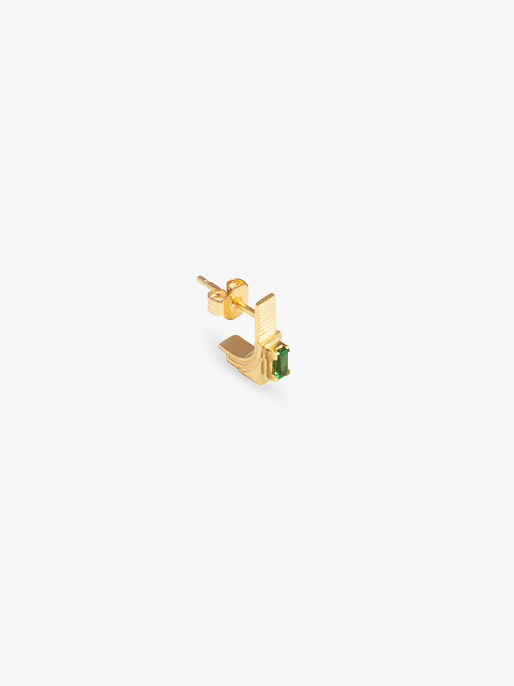 Earring Refined Brutalism 14kt Solid Gold