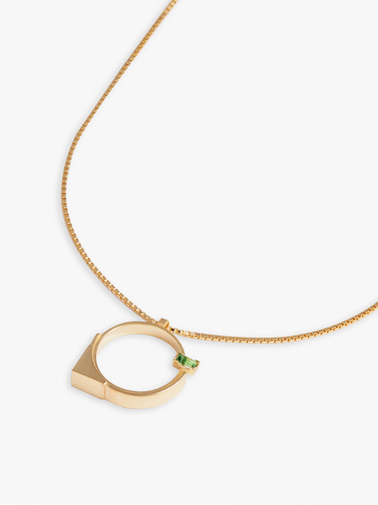 Necklace Refined Brutalism 14kt Solid Gold / 55 cm