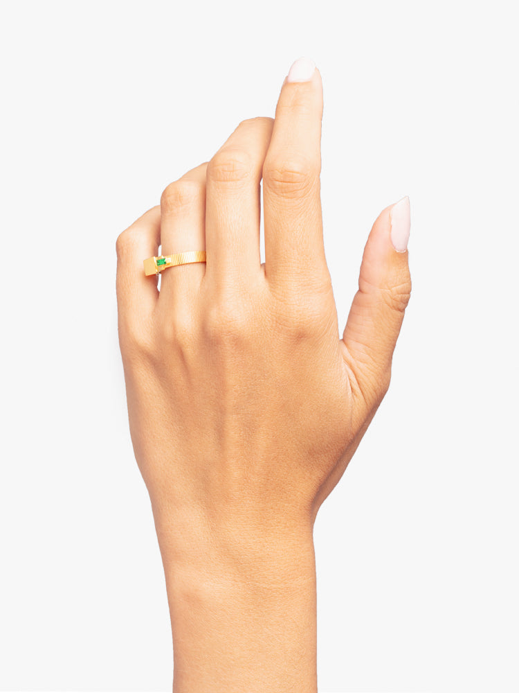 Ring Refined Brutalism 14kt Solid Gold