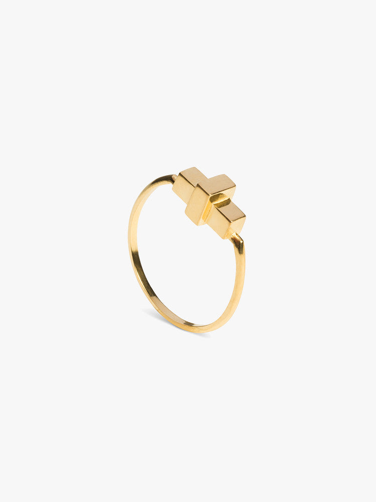 Ring Score 14kt Solid Gold