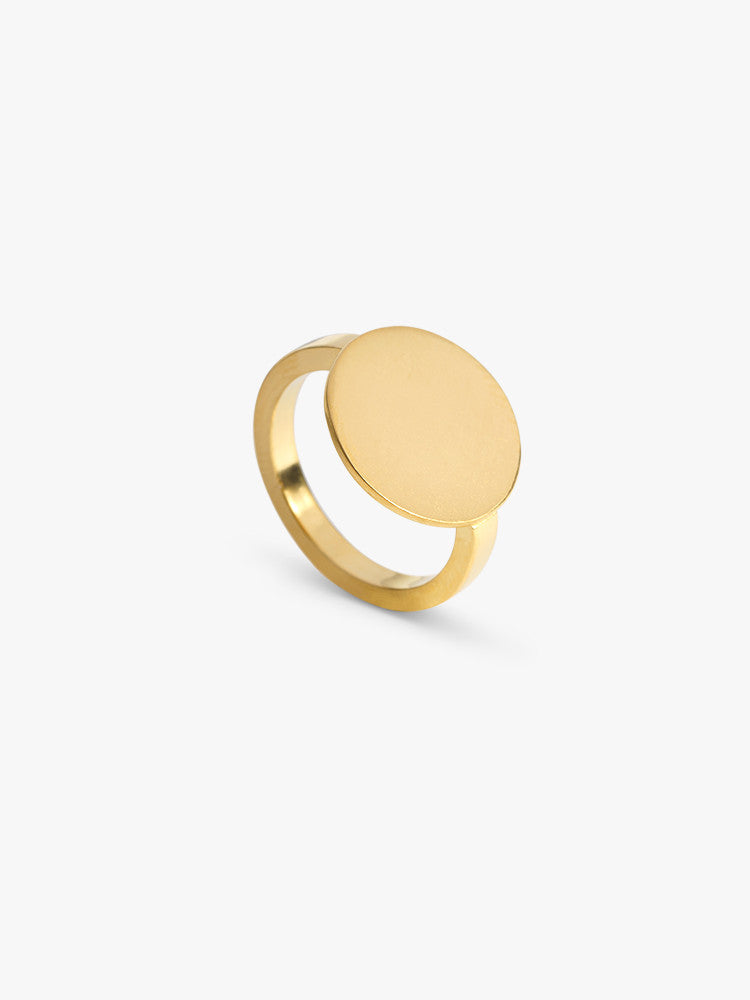 Ring Memento Round 14kt Solid Gold
