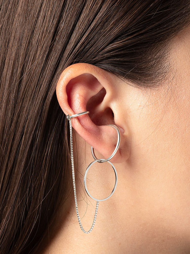 Set: Earring Spring / Cord Round