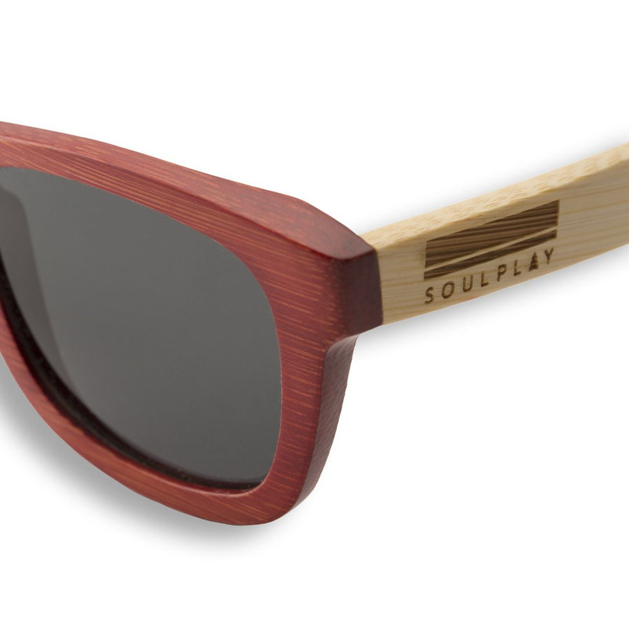 Bamboo Sunglasses - Crimson