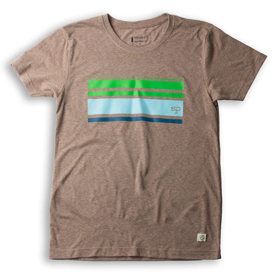 Retro Stripe Tee :: Recycled Beer Bottles