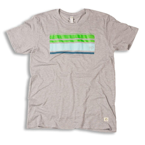 Retro Stripe Tee :: Recycled X-ray Film