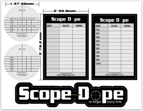 Scope Dope LT. LR/LEO/Standard Sheet