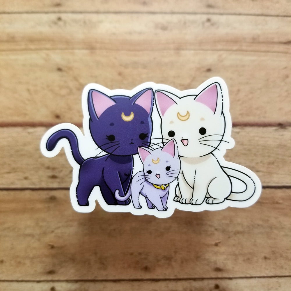 Sailor Moon Kitty Family Vinyl Decal