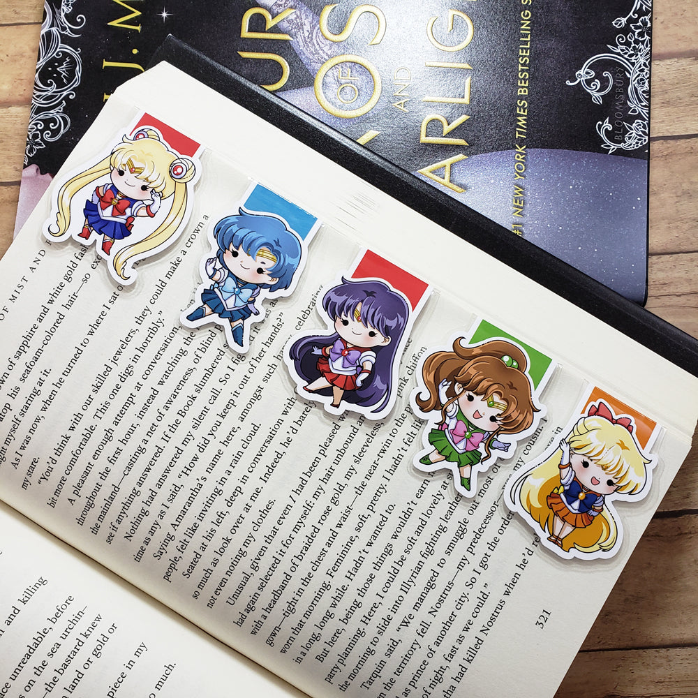 Sailor Moon (set 1) Magnetic Bookmarks