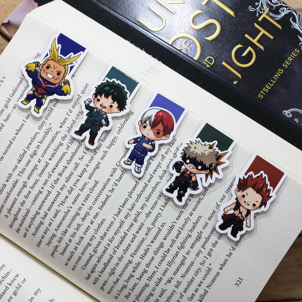BNHA (set 1) Magnetic Bookmarks