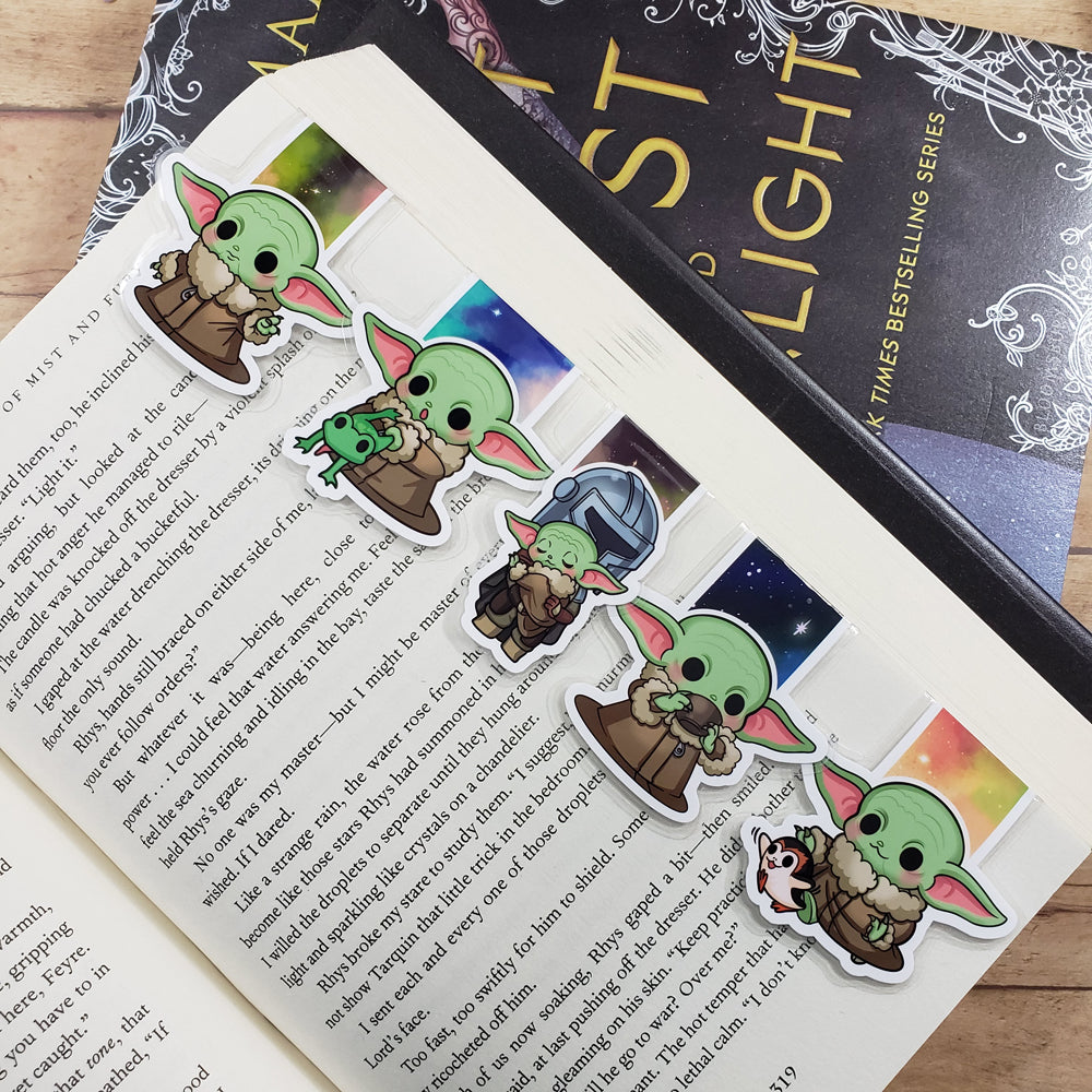 Alien Baby (set 1) Magnetic Bookmarks