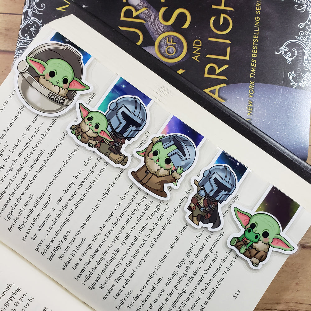 Alien Baby (set 2) Magnetic Bookmarks