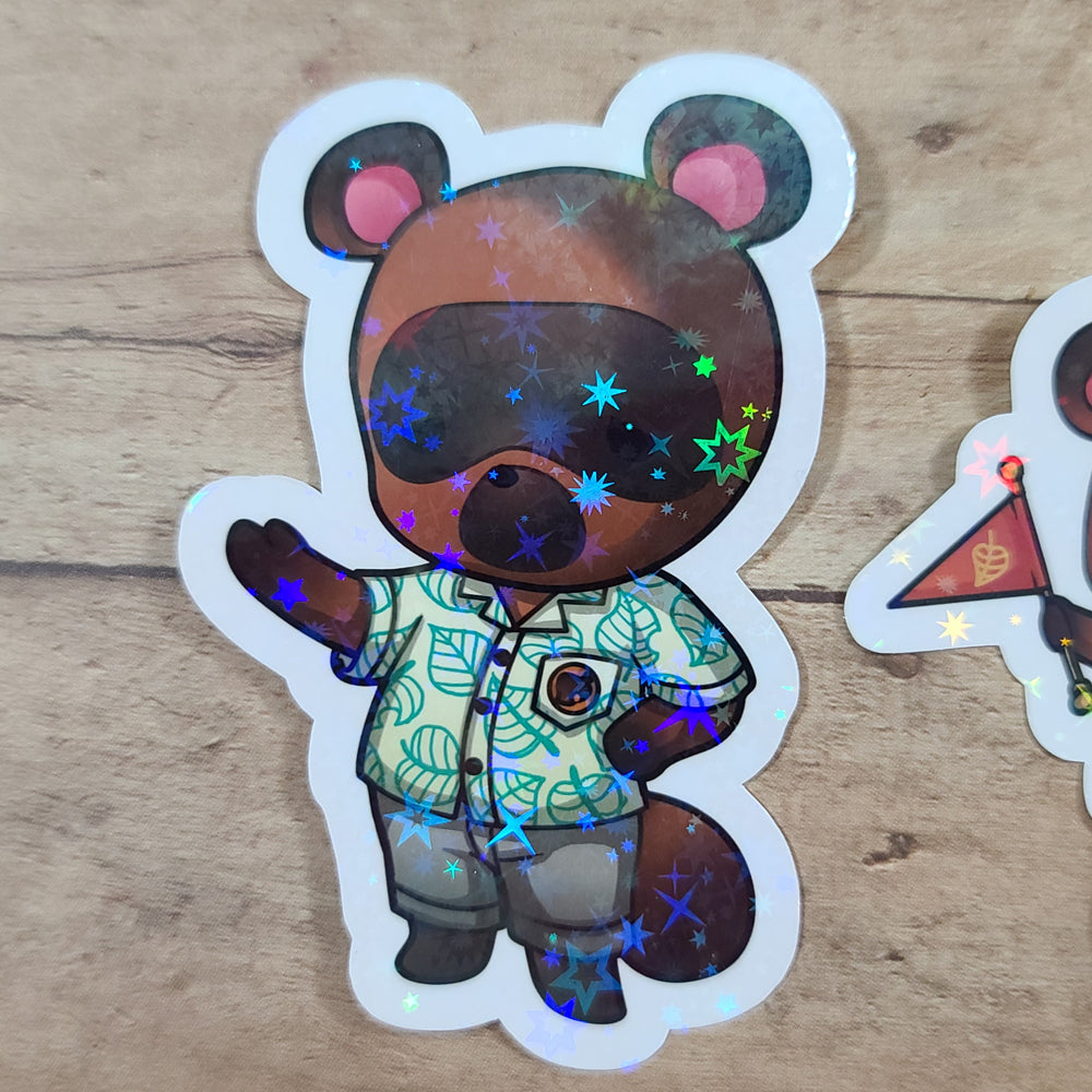 Animal Game Holo Diecut Stickers