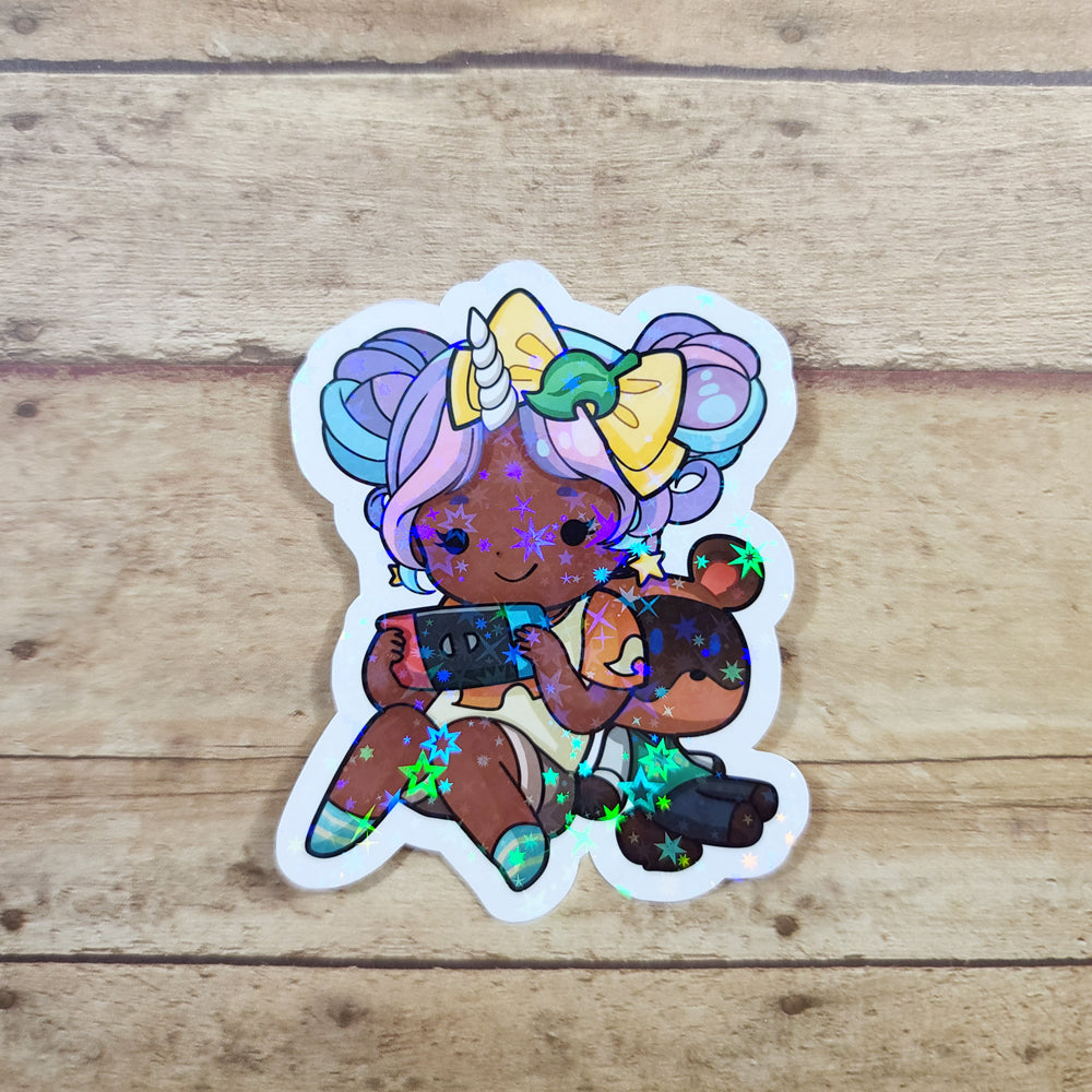 Starshine Animal Game Holo Diecut Stickers