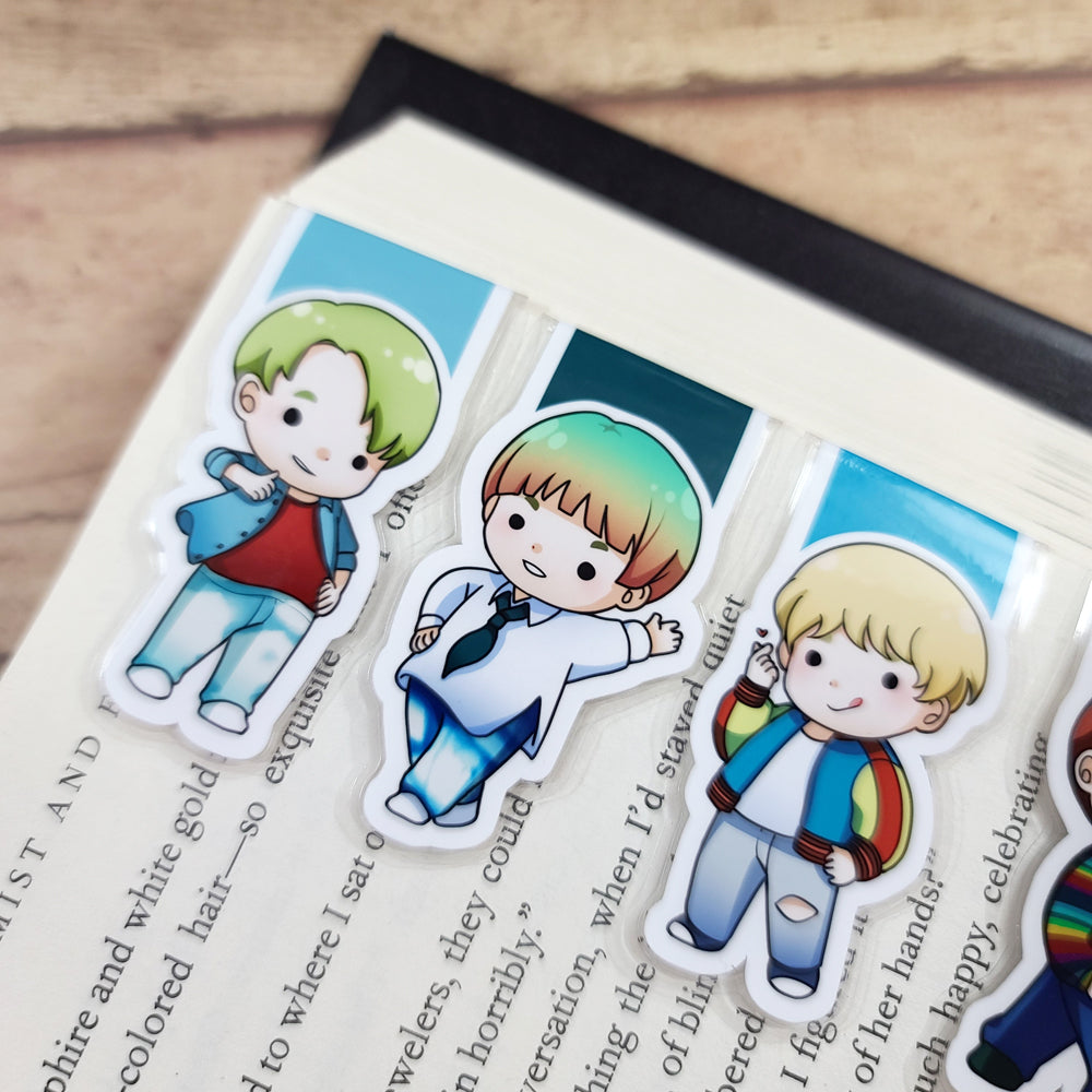 KPop Boys Magnetic Bookmarks