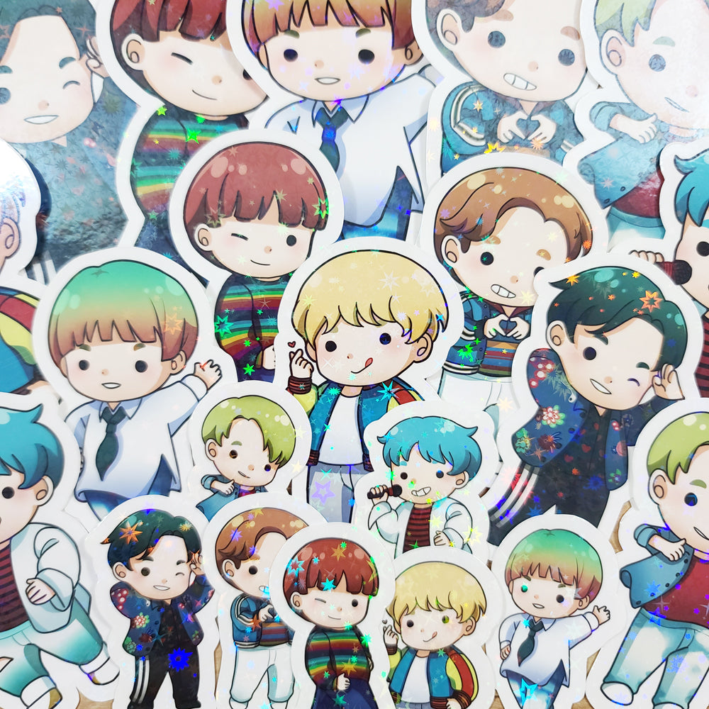 KPop Boys Diecut Stickers