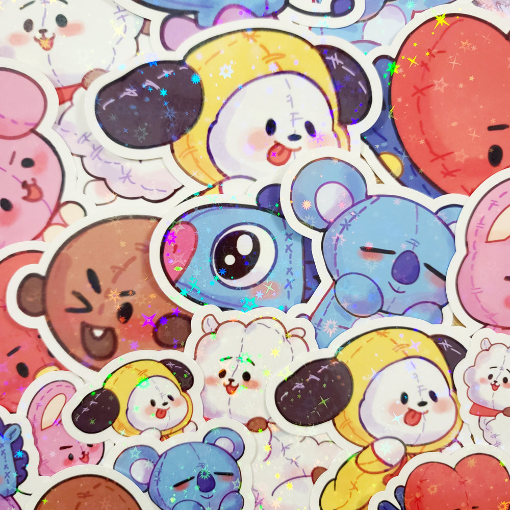KPop Animal Diecut Stickers