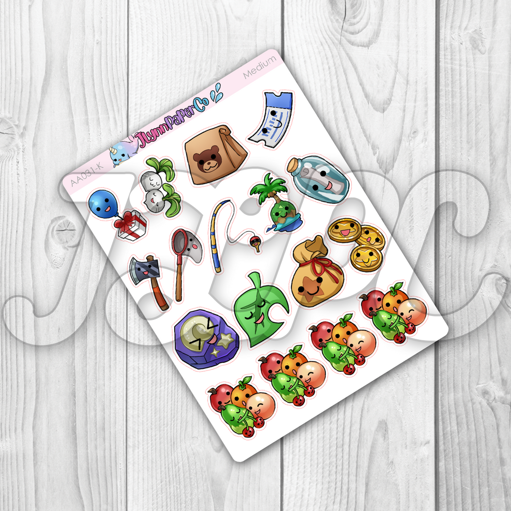 Animal Game Object Stickers | AA031